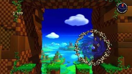 Sonic Lost World (Wii U) Windy Hill - Zone 4 - All Red Rings