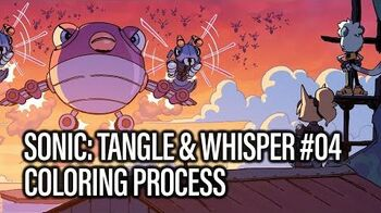 Sonic- Tangle & Whisper -04 (Coloring Process)