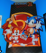 Sonic 2 promotional board