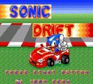 Sonic Drift Title