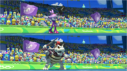 Mario & Sonic at the Rio 2016 Olympic Games - Blaze VS Dry Bowser Javelin Throw