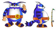 Sonic big the cat color art by residentlilly