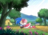 Amy hugs Sonic
