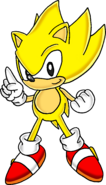Classic Super Sonic the Hedgehog