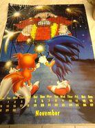 Sonic 1994 Official Calendar EU Nov