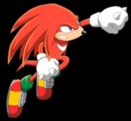 Sonic X - Knuckles punch