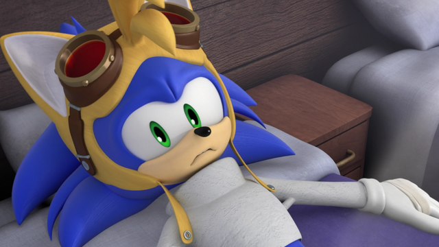 File:Sonic in Tails costume.png