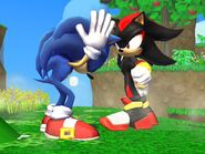 SSBB Sonic VS Shadow by cosmovsgoku