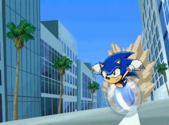 Image - Sonic running in Sonic X.png | Sonic News Network ...