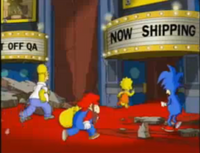 Mario-and-Sonic-in-the-Simpsons