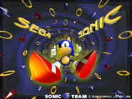 Sonic Team 3D wallpaper 1996 rings