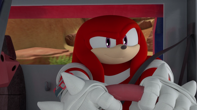 File:Knuckles in his car driving.png