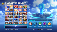 Transformed character select screen
