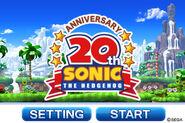 Sonic20th TitleScreen