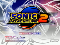 SonicAdventure2Trialversion title