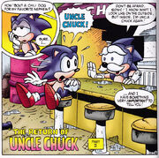 Sonic and Uncle Chuck's reunion in the comics