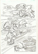 Sonic the Hedgehog -163 p.5 Sonic Riders Pt. 1 Action 2006 art by Tracy Yardley!