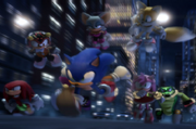 Sonic y amigos en Shadow the Hedgehog