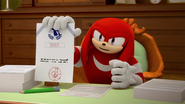 S1E32 Knuckles self approved