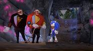 S2E52 Sonic, Dr. Eggman, and Lord Eggman