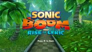 Sonic Boom Rise of Lyric title screen