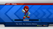 STH2006 Character Select Knuckles