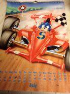 Sonic 1994 Official Calendar EU Jul