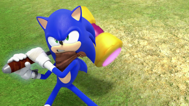 File:S2E02 Sonic swinging Amy's hammer.png