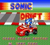 Sonic Drift title screen