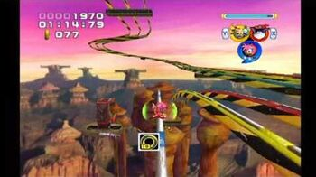 Sonic Heroes Rail Canyon (Team Rose)