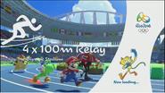 Mario & Sonic Rio 2016 Olympic Games - 4 x 100 Relay Loading Screen