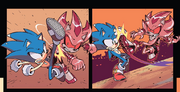 IDW 20 Sonic vs Zombot Shadow