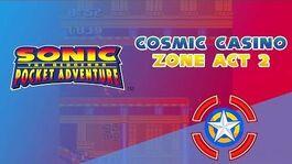 Cosmic Casino Zone Act 2 - Sonic Pocket Adventure