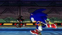 SA2 Shadow the Hedgehog and Sonic the Hedgehog