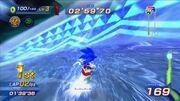 Sonic en frozen forest