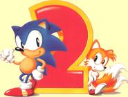 Sonic i Tails Sonic 2 Artwork JP