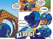 Sonic Attacks Mega Man