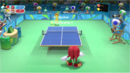 Mario & Sonic at the Rio 2016 Olympic Games - Knuckles VS Daisy Table Tennis