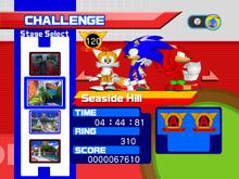 Sonic Heroes Challenge