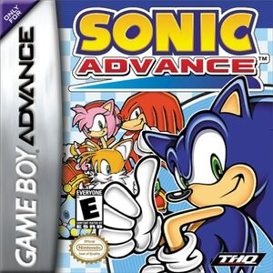 Sonic Advance - North-american cover