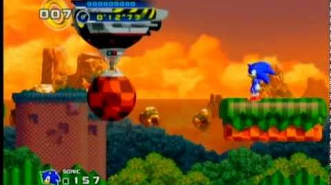 Sonic 4 - Splash Hill Boss - Showdown with Dr. Eggman