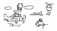 Sketch-Sky-Chase-Zone-Enemies-On-The-Sky