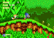 Sonic and tails caminando en la Angel Island