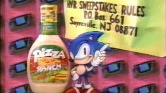 Pizza Ranch Salad Dressing Hidden Valley Ranch Sega Sonic Sticker Commercial 1993