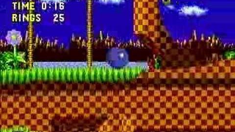 Sonic The Hedgehog - Green Hill Zone Act.1 SpeedRun Genesis