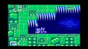Sonic the Hedgehog (8 bit) Sega Mastersystem Labyrinth Zone Act 2
