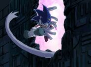 The Boom ghosts pull Sonic into the walls