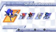 Sonic Rivals menu 2