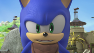 Sonic talking to the camera