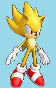 Super Sonic Colors sprite